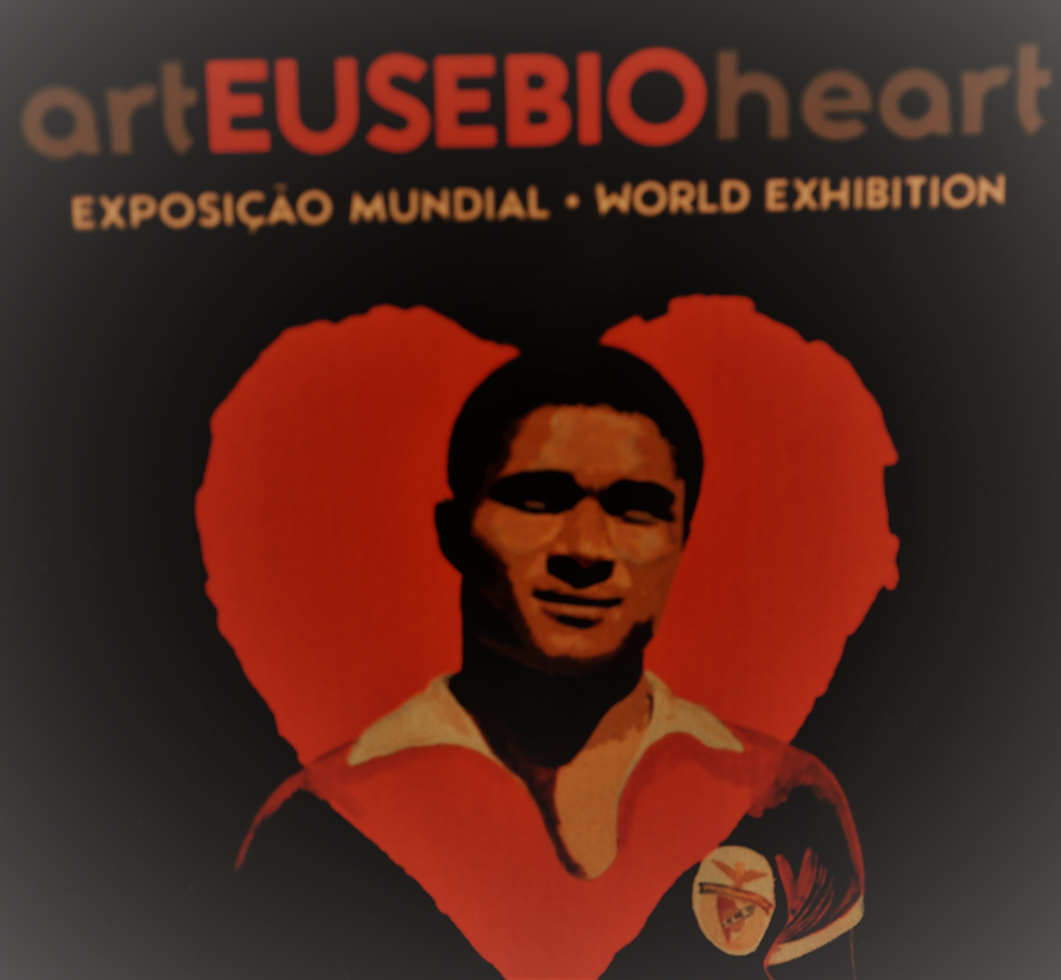 Flyer der Eusebio Ausstellung in Lissabon
