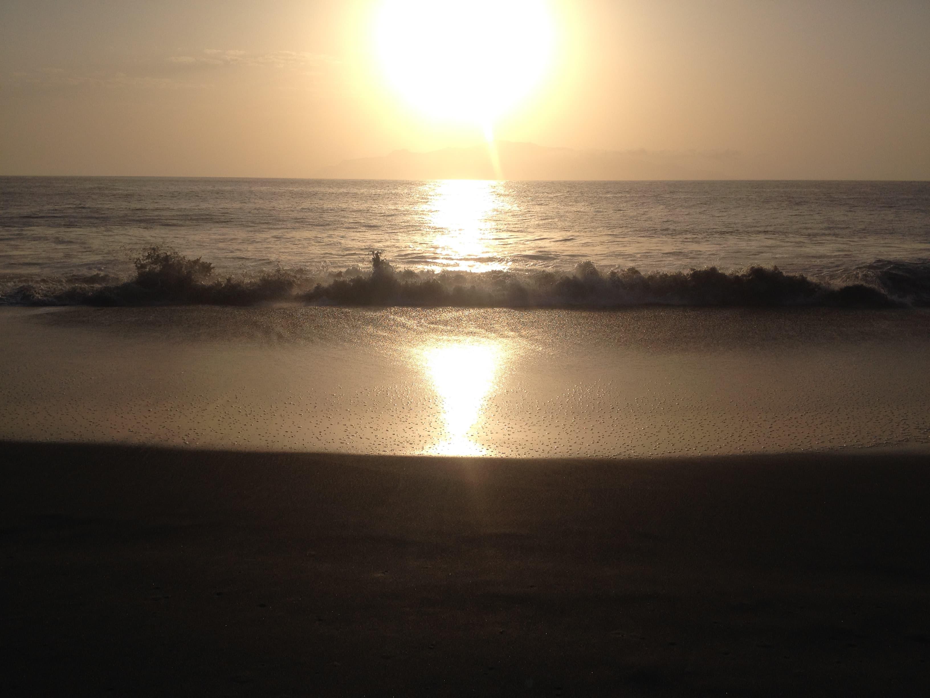 Coucher de soleil et vue sur Brava à partir de Fonti Bila