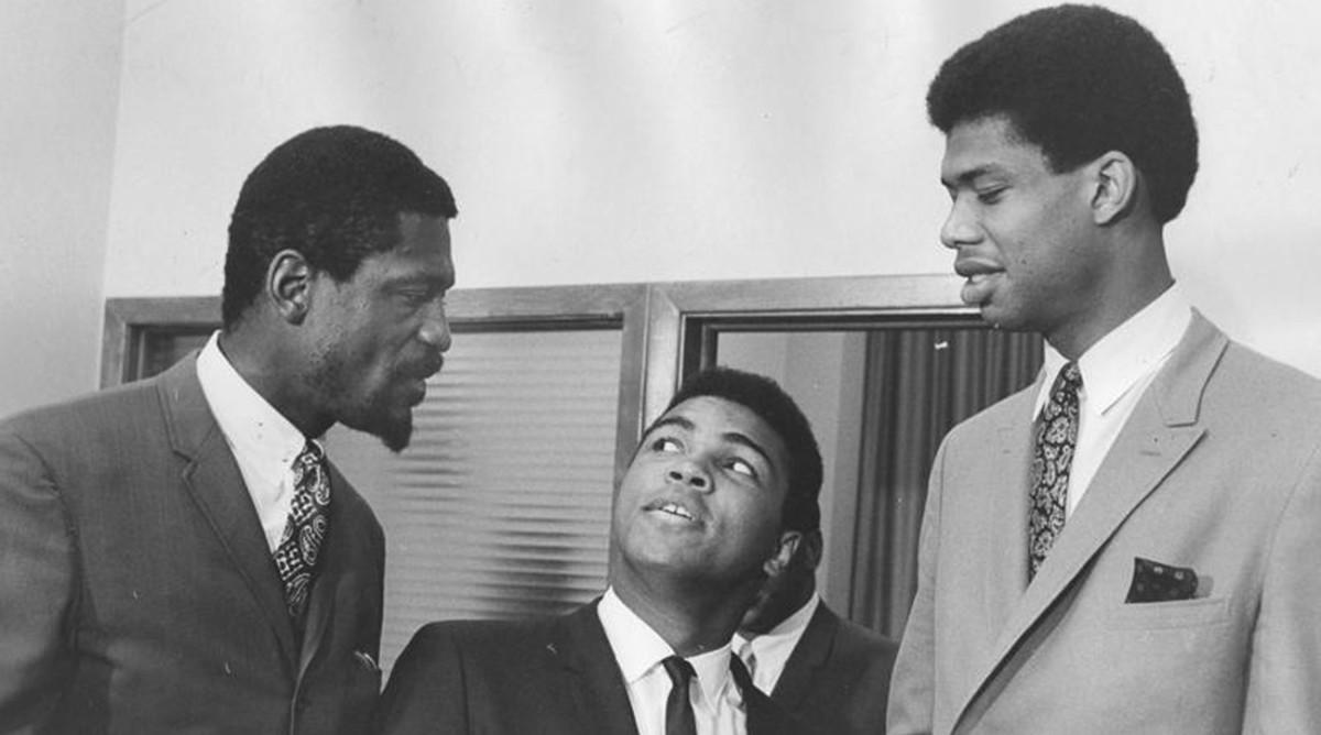 3 Légendes: Bill Russell, Muhammad Ali et Lew Alcindor (Kareem Abdul Jabbar)