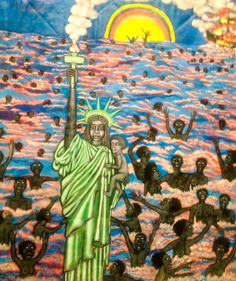 """We came to America"" de Faith Rinngold, expo ""The Color Line"" à Paris"